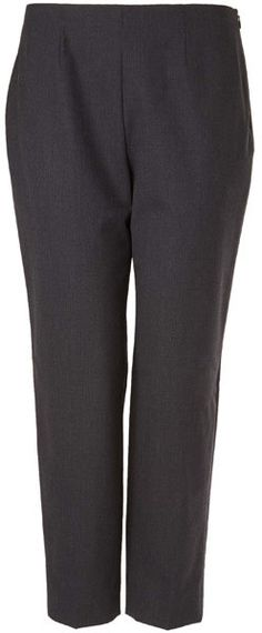 Piazza Sempione Charcoal Classic Stretch-Wool Capri Trousers on shopstyle.co.uk