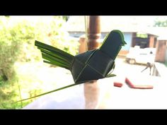 How to make parrot with coconut leaf - YouTube