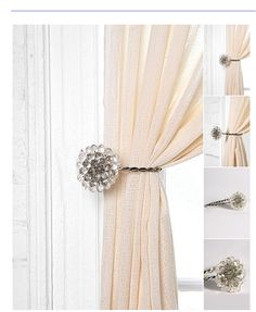 Pretty Curtain Tie Back Holder Backs Drapery Sheer Curtains