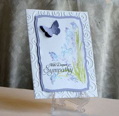 Deepest Sympathy Watercolor Flower card  Custom  by catSCRAPPIN, $4.75
