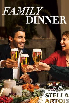 Formality doesn't exist here. This is all truth, tradition, and tomfoolery. It's what feasting with friends and family is all about, right? So laugh out loud in real life, pass the dessert, and raise a Stella to toast to another successful holiday reunion.
