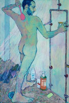 © Hope Gangloff - Afternoon Shower - Contemporary Artist - Figurative Painting