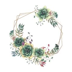 Watercolor Flowers, Watercolor Art, Succulent Tattoo, Flower Logo, Bullet Journal Inspiration, Flower Frame, Wedding Cards, Drawings, Artwork