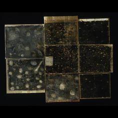 "Vivienne Koorland   House, Clouds, Flowers, Stars, oil, paper, glue on linen, 76"" X 60"", 2004"