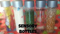 Sensory Bottles. Pinned from Generation iKid's weekly blogger party. Visit Thursdays for more great ideas!