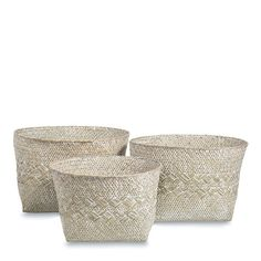 Braided Seagrass Storage Basket Set