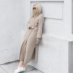 Eileen Fisher love - neutral knits and trainers