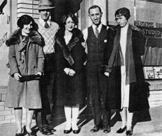 Disney brothers with their wives and mother on the day they opened their studio in 1923