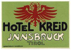 Austria - Innsbruck - Hotel Kreid by Luggage Labels by b-effe, via Flickr