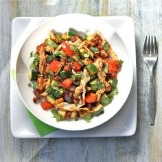 Chicken Chorizo No Potato Hash.   This link also provides other recipes for the 4 Hour Body diet.