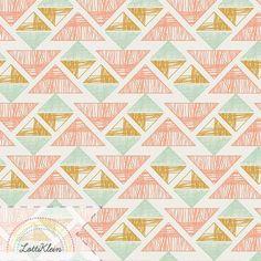 Stoff Dreiecke Art Gallery Crystal Arrowheads von LottiKlein auf DaWanda.com