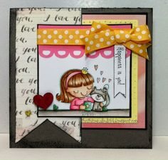 Your Next Stamp Challenge project/card by Sharla - June Guest using Tea Time Fhiona