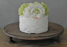 20 Rustic Wedding Cake Stand Round Rustic by EIsabellaDesigns
