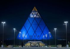 """Palace of Peace and Reconciliation - Astana Kazakhstan - Palace of Peace and Reconciliation (aka the Pyramid of Peace and Accord) in Astana. According to Foster and Partners """"as a non-denominational contemporary building form, the pyramid is resonant of both a spiritual history that dates back to ancient Egypt as well as a symbol of amity for the future."""" Price: $58 million.  Photo by Eric Lafforgue"""