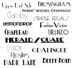 Gatsby fonts... strange that I have about half of these installed already. :)