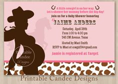 Invitation · Cowgirl Baby ShowersIdeas ...