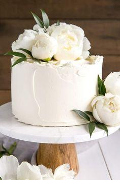 This Lemon Elderflower Cake is my copycat version of the royal wedding cake! Eld… This Lemon Elderflower Cake is my copycat version of the royal wedding cake! Simple Elegant Wedding, Elegant Wedding Cakes, Wedding Cake Designs, Simple Weddings, Wedding Cake White, Royal Wedding Cakes, Peony Wedding Cakes, Flowers On Wedding Cake, Flowers On Cake