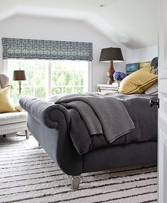 love that patterned shade on the window.  Will need to DIY for the dining room!
