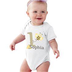 Birthday Girl Bumble bee bodysuit or Girls Shirt by bodysuitsbynany on Etsy