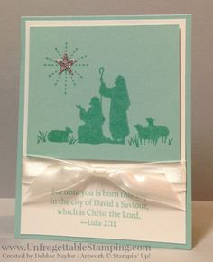 Unfrogettable Stamping | 2015 QE Christmas Week 1 card featuring Every Blessing by Stampin' Up!