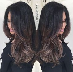 Are you looking for dark winter hair color for blondes balayage brunettes? See our collection full of dark winter hair color for blondes balayage brunettes and get inspired! Hair Color And Cut, Brunnete Hair Color, Dark Hair With Color, Color Black, Hair Dos, Gorgeous Hair, New Hair, Hair Inspiration, Hair Beauty