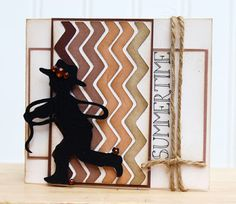 Thoughts of a Cardmaking Scrapbooker!: Cricut A Child's Year - a silhouette for images, on chevron or ombre backgrounds