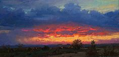 Evening Glow-West Mesa by robert kuester in the FASO Daily Art Show  http://dailyartshow.faso.com/20151022/1891892