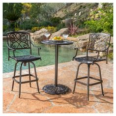 Shop Best Selling Home Decor Santa Maria Outdoor Pub Set at Lowe's Canada. Find our selection of outdoor dining sets at the lowest price guaranteed with price match. Patio Dining, Outdoor Dining, Outdoor Decor, Dining Rooms, Kitchen Dining, Patio Bar Set, Pub Table Sets, Pub Height Table, High Top Tables