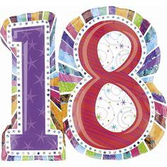 Anagram Supershape - Radiant Birthday 18 - Balloon Foil 18Th Helium 18Th Foil