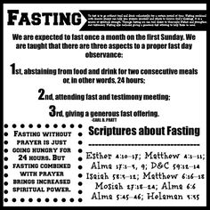 The Things I Love: September Young Women / Young Men Handouts - Commandments {English and Spanish}Fasting