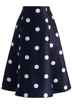 Fab in Dots A-line Midi Skirt - New Arrivals - Retro, Indie and Unique Fashion