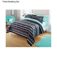 New Girl's Teen Kid's Tribal Full Size Comforter Set Bedding Bedspread Shams NWT #Yourzone #Tribal