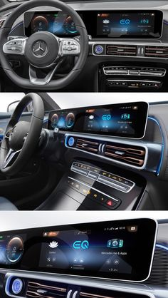 Mercedes Benz EQC 2020 Design cluster UX-UI MB UX Car HMI EV Car Interior Sketch, Car Interior Design, Automotive Design, Mercedes Benz, Car Ui, 2020 Design, Ui Design, Cluster, Dashboard Design