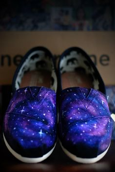 custom galaxy toms (or vans).