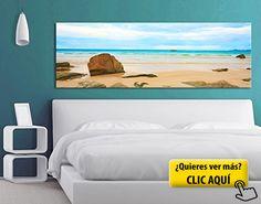 Cuadro en lienzo no.193 The Beach 120x40cm,... #cuadro 3d