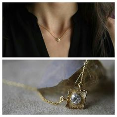 Diamond & 14kt Gold Necklace by ATELIER Gaby Marcos