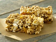 ALMOND CARAMEL POWER POP BARS from JOLLY TIME Pop Corn #popcorn www.jollytime.com