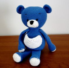 Blue Bear free crochet pattern by AmigurumiBB