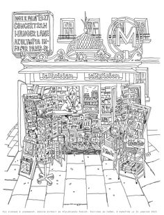 Beach Coloring Pages, Adult Coloring Book Pages, Colouring Pages, Coloring Sheets, Coloring Books, Colored Mason Jars, City Illustration, Color Activities, Copics