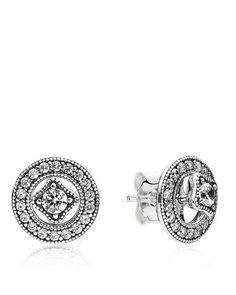 PANDORA Earrings - Sterling Silver & Cubic Zirconia Detachable Studs | Bloomingdale's