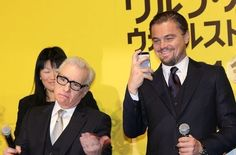 """When Martin Scorsese made this face while """"Leonardo DiCaprio was a total embarrassing dad at the Tokyo premiere of 'Wolf of Wall Street'"""""""