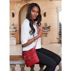 Signature Leather Crossbody Bag