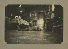 Page From An Album of Paris Crime Scenes, by Alphonse Bertillon, 1904