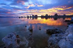 See the effects of a volcano at Mono Lake.