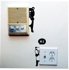 Animal Wall Switch Stickers