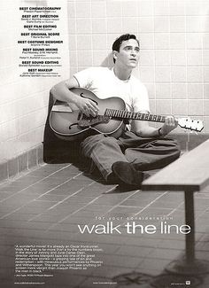 For Your Consideration- Walk the Line - Walk The Line Photo - Fanpop Johnny Cash Film, Walk The Line Movie, Posters Amazon, Johnny And June, Original Movie Posters, Film Posters, For Your Consideration, Best Cinematography, Line Photo