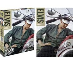 Any Elvis fan would love spending hours seeing The King beside a cool chopper in this Elvis Presley Bike 1000pc Puzzle.