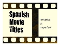 A great five-minute movie title warm up activity to help your students review the distinctions between preterite and imperfect in Spanish!  Some movie titles your students will know some are from the 1920s! Some are kid movies, some are horror movies, and some are comedies.