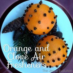 Not only are these pretty orange and clove decorations, they're practical too. They make wonderful, natural air fresheners to make your home smell heavenly.