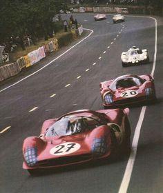 Pedro Rodriguez / Richie Ghinter (Ferrari) & Mike Parkes / Ludovico Scarfiotti (Ferrari) - Le Mans 24 hours - 1966